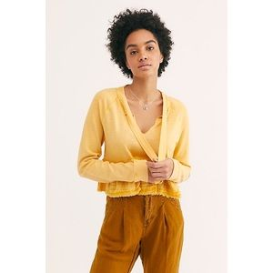 NWT Free People Sweet Jane Cropped Pullover